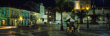 Buildings Lit Up At Night, Terreiro De Jesus, Pelourinho, Salvador, Brazil Wall Decal