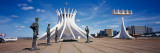 Cathedral in a City, Brasilia Cathedral, Brazil Wall Decal by  Panoramic Images
