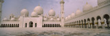 Empty Courtyard of a Mosque, Sheikh Zayed Mosque, Abu Dhabi, United Arab Emirates Wall Decal by  Panoramic Images