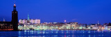 Buildings at The Waterfront Lit Up at Night, Stockholm, Sweden Wall Decal by  Panoramic Images