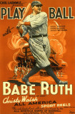 Play Ball With Babe Ruth Masterprint