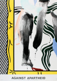 Against Apartheid Reproduction pour collectionneur par Roy Lichtenstein