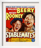 Stablemates, Mickey Rooney, Wallace Beery on Window Card, 1938 Posters