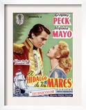 Captain Horatio Hornblower, Gregory Peck, Virginia Mayo, 1951 Print