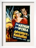 Adventure in Manhattan, Jean Arthur, Joel Mccrea, 1936 Print