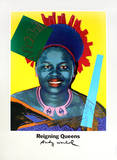 Queen Ntombi Twala Of Swaziland from Reigning Queens Reproductions pour les collectionneurs par Andy Warhol