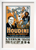 Houdini, Poster Art for Magic Show by Harry Houdini, 1909 Prints