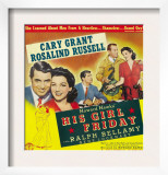 His Girl Friday, Cary Grant, Rosalind Russell, 1940 Print