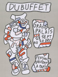 Festival D'Automne a Paris Collectable Print by Jean Dubuffet