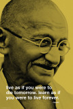 Gandhi-Live Forever Affiches