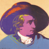 Goethe Red and black-large Collectable Print by Andy Warhol