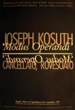 Modus Operandi Posters by Joseph Kosuth