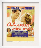 Only Angels Have Wings, Cary Grant, Jean Arthur, Rita Hayworth, Cary Grant on Window Card, 1939 Posters