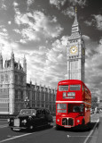 London - Big Ben & Bus Posters