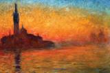 Monet-Dusk Venice Posters