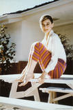 Audrey Hepburn-Stripes Photo