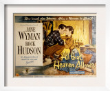 All That Heaven Allows, Rock Hudson Jane Wyman, 1955 Prints