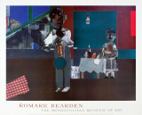 The Woodshed Affiches par Romare Bearden