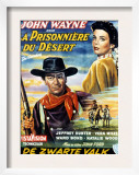 The Searchers, John Wayne, Jeffrey Hunter, Natalie Wood, 1956 Poster