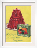 Rowntree's, Jelly, Desserts, UK, 1950 Prints