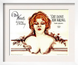 She Done Him Wrong, Mae West, 1933 Poster