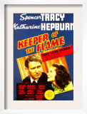 Keeper of the Flame, Spencer Tracy, Katharine Hepburn on Midget Window Card, 1942 Posters