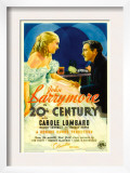 Twentieth Century (Aka 20th Century), Carole Lombard, John Barrymore on Midget Window Card, 1934 Print