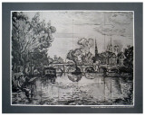 River Scene Print by Paul Signac