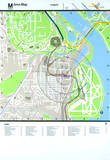Washington DC Area Map-The Pentagon Serigraph