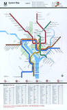 Washington DC Subway System Map Serigraph