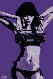 Steez-Bikini Boombox Poster by Steez