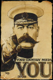 Lord Kitchener - Your Country Needs You Poster