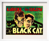 The Black Cat, Boris Karloff, Bela Lugosi, 1934 Posters