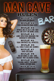 Man Cave Rules Poster