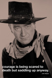 John Wayne-Courage Affiche