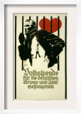 People&#39;s Fund for German War and Civil Prisoners Posters by Ludwig Hohlwein