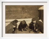 Playing Craps in the Jail Alley, Albany, New York, c.1910 Prints by Lewis Wickes Hine
