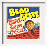 Beau Geste, Gary Cooper on Jumbo Window Card, 1939 Posters