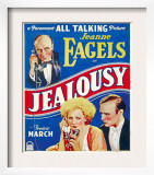 Jealousy, Jeanne Eagels, Fredric March on Window Card, 1929 Art
