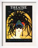 Theatre, Masks Magazine, USA, 1920 Poster