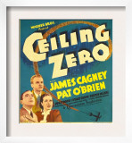 Ceiling Zero, Pat O'Brien, James Cagney, June Travis on Window Card, 1936 Prints