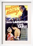 Mutiny on the Bounty, Movita, Clark Gable, Charles Laughton, 1935 Prints