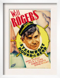 Steamboat Round the Bend, Will Rogers on Midget Window Card, 1935 Prints