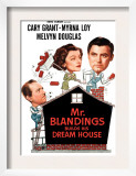 Mr. Blandings Builds His Dream House, Melvyn Douglas, Myrna Loy, Cary Grant, 1948 Print