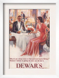 Dewar's, Whiskey Alcohol Dinners, UK, 1930 Print