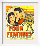 Four Feathers, Fay Wray, Richard Arlen on Window Card, 1929 Posters
