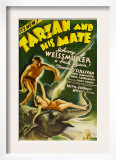 Tarzan and His Mate, Johnny Weissmuller, Maureen O&#39;sullivan, 1934 Print