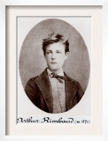 Arthur Rimbaud Reckless and Rebellious French Poet, 1870 Prints