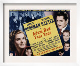 Adam Had Four Sons, Ingrid Bergman, Warner Baxter, Johnny Downs, Richard Denning, Robert Shaw, 1941 Art