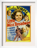 Little Miss Broadway, Edna May Oliver, Shirley Temple, Jimmy Durante, 1938 Posters